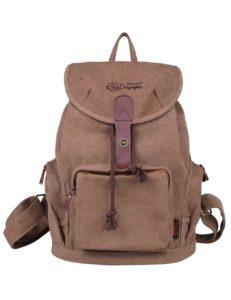 Rucksack-Damen.eu Douguyan Damen Uni Rucksack Daypack E00117 Dunkelbraun