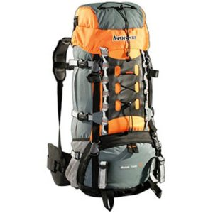 AspenSport Rucksack Mount Cook, grau/orange, 75 x 35 x 30 cm, 65 Liter, AB06Y04