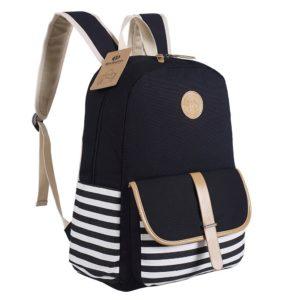 Rucksack-Damen.eu Blubboon Schulrucksäcke/Rucksack Damen/Mädchen Vintage Schule Rucksäcke mit Moderner Streifen für Teens Jungen Studenten